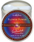 Suntouched hemp candle - 6 oz round tin flower power