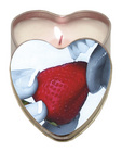 Heart tin suntouched hemp edible candle-strawberry 4oz