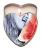 Heart tin suntouched hemp edible candle-watermelon 4oz