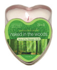 Heart tin suntouched hemp candle-naked in the woods 4oz