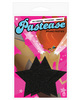 Pastease black glitter star o/s
