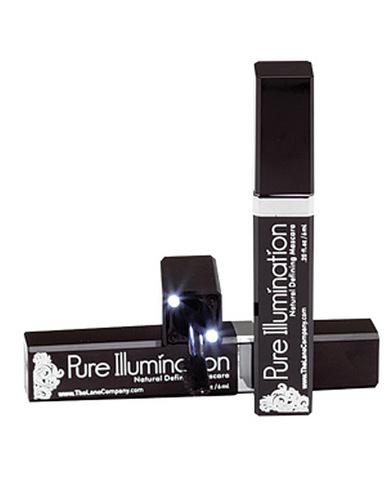Pure illumination water resistant natural defining mascara w/light up applicator - .20 oz black