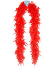 Feather boa 72in - red