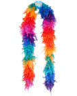 Feather boa 72in - rainbow