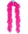 Feather boa 72in - pink with tinsel