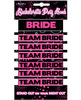 Bachelorette party bands - 1 bride and 6 team bride bands