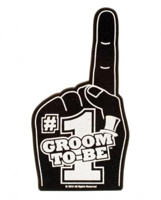 #1 groom to be buy me a beer foam hand