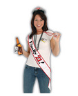 Finally 21 birthday sash - white Sex Toy Product