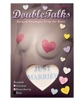 Double talks just married pastie - white heart w/rose scent