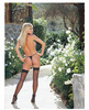 Sheer thigh high w/back seam black o/s