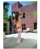 Sheer thigh high w/back seam white o/s Sex Toy Product Image 1