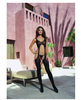 Sheer suspender tank bodystocking black o/s