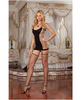 Opaque and fence net garter dress w/attached thigh high stockings Sex Toy Product Image 1