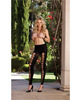 Opaque legging w/slash detail which can be worn on front or back black o/s