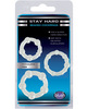 Blush stay hard beaded cock rings 3 pack - clear