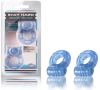Stay Hard Vibrating Cock Ring 2 Pack - Blue 