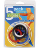 Nitrile cock  ring set 1.25in - asst pack of 5