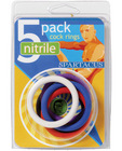 Nitrile cock  ring set 1.5in - asst pack of 5