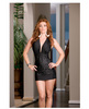 Microfiber versatile halter dress and thong (wear multiple ways - includes instructions) black o/s