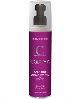 Coochy body rashfree shave creme - 16 oz pear berry
