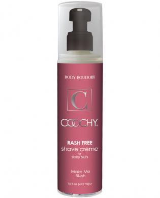 New coochy body rashfree shave creme - 16 oz blush