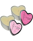 Crazy girl soy massage heart candle 4 oz - plumeria