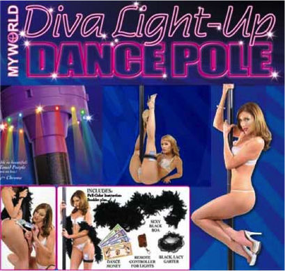 Diva light-up dance pole - purple/black