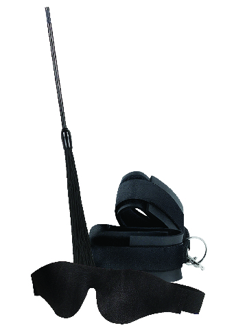 Sportsheets romantic restraint kit - black