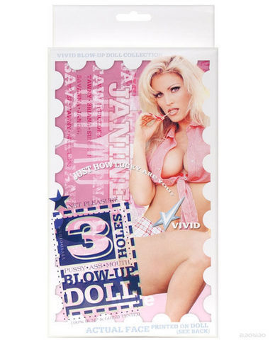Vivid 3 Hole Doll With Actual Face - Janine Sex Toy Product