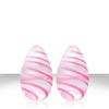 Crystal Premium Glass Eggs - Pink Strips