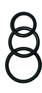 Super Silicone Cockrings - Black Sex Toy Product
