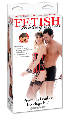 Fetish Fantasy Series Super Deluxe Leather Bondage Kit