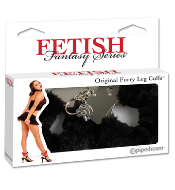 Fetish Fantasy Series Furry Leg Cuffs - Black