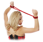 Fetish Fantasy Series Silk Rope Love Cuffs Red Sex Toy Product