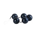 Power Balls Latex Dipped Weighted Pleasure Balls 1.25 Inch - Black Sex Toy Product