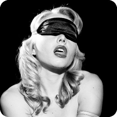 Sex & Mischief Satin Black Blindfold