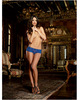 Stretch lace open crotch short sapphire large