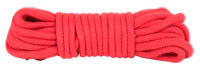 Japanese style bondage rope, red (cotton)