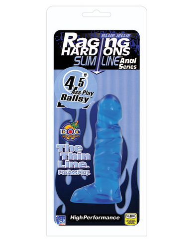 Raging hard ons slimline 4.5in ballsy blue jelly