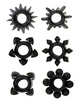 Tower of power cock rings - black pack of 6