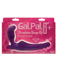 Gal pal vibrating strapless strap-on - purple