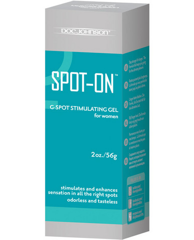 Spot-on g-spot stimulating gel for women - 2 oz tube