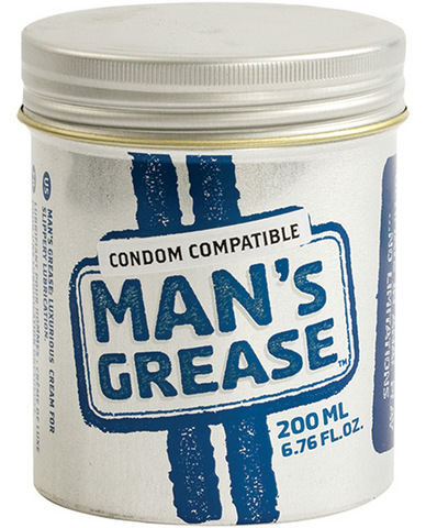 Man's grease waterbased lube - 6.8 oz jar