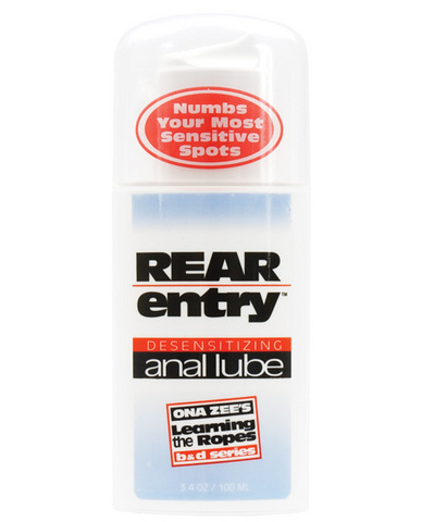 Rear entry desensitizing anal lube 3.4 oz Sex Toy Product