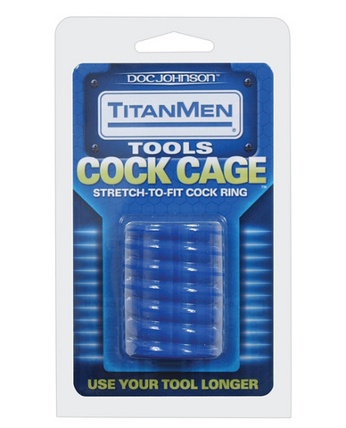 Titanmen tools cock cage - blue