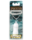 Pirate's pendant vibe w/chain - white