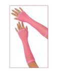 Long fishnet gloves - fuschia