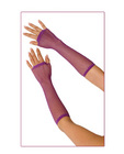 Long fishnet gloves - purple