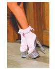 Nylon anklet w/ruffle and satin bow pink o/s Sex Toy Product