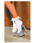 Nylon anklet w/ruffle and satin bow white o/s Sex Toy Product